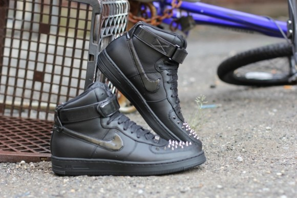 Nike Air Force 1 High Downtown Spike Black Black Another Look