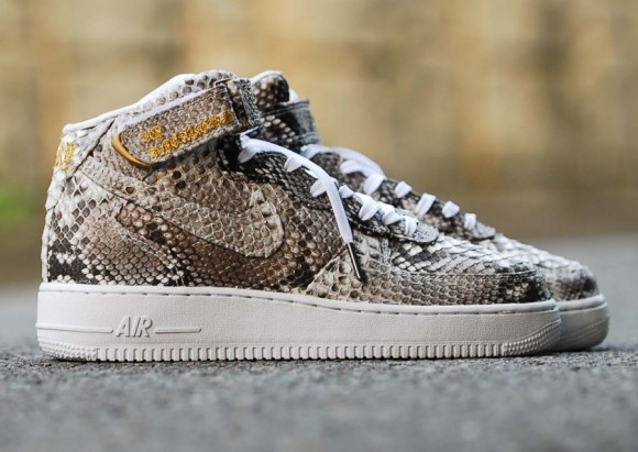 Nike Air Force 1 Mid Python Customs by 368Sneakers