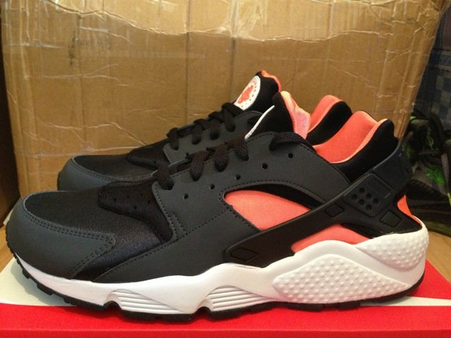 nike huarache orange and white