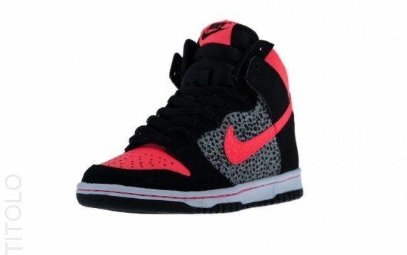 Nike Dunk High GS Safari Black  Atomic Red Now Available