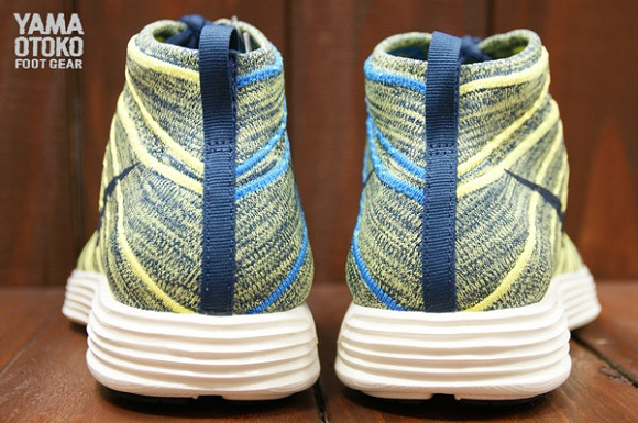 Nike Flyknit Chukka Squadron Blue Electric Yellow First Look