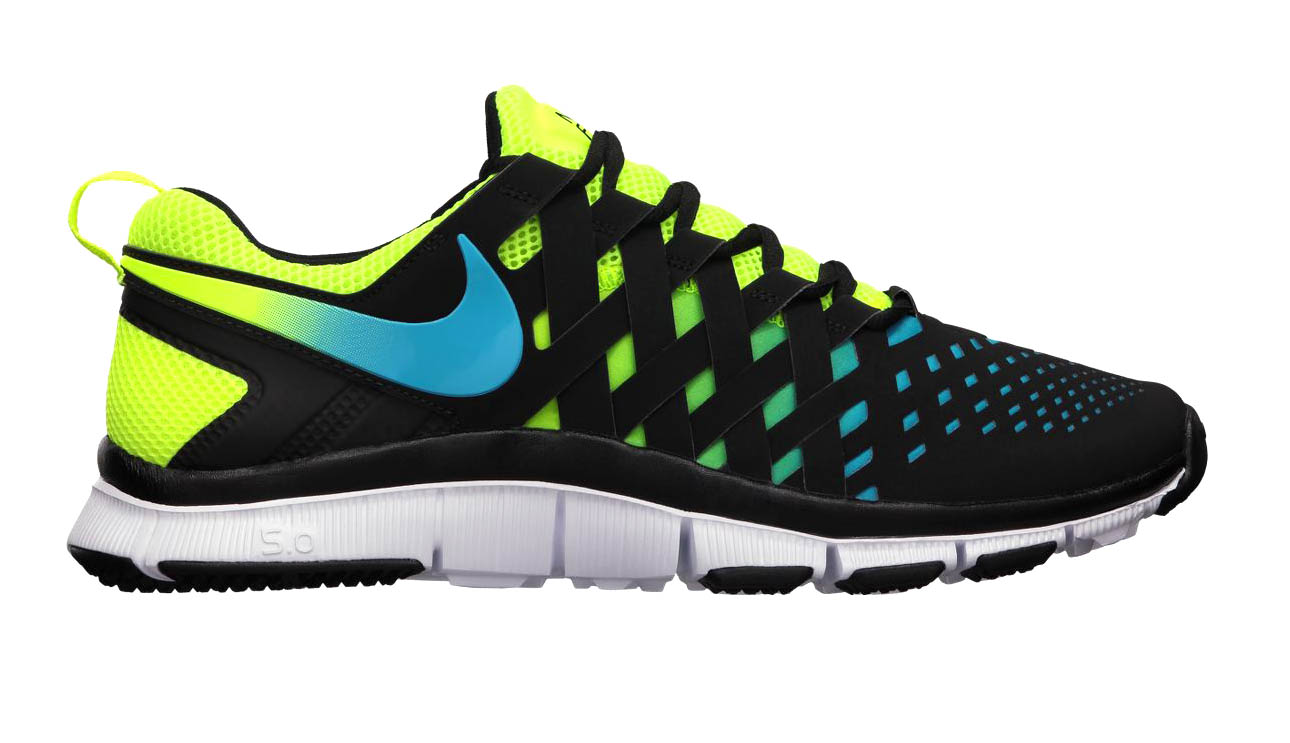 nike free trainer 5.0 nrg volt current blue black