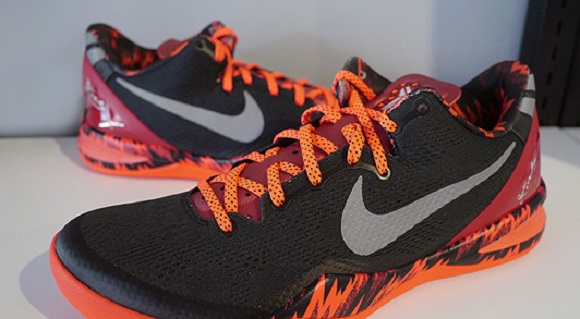 Nike Kobe 8 System PP Black Red Camo Detailed Look