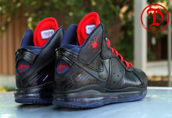 Nike LeBron 8 Black Widow by Dank Customs