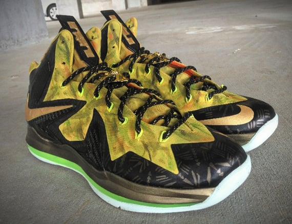 Nike LeBron X Elite 2 Time Champ Fusion by Mache Customs