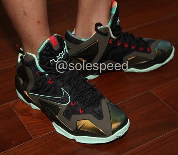 Nike LeBron XI Armory Slate On Feet Images