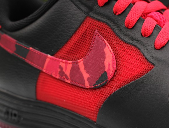 Nike Lunar Force 1 Fuse Leather Red Camo Swoosh