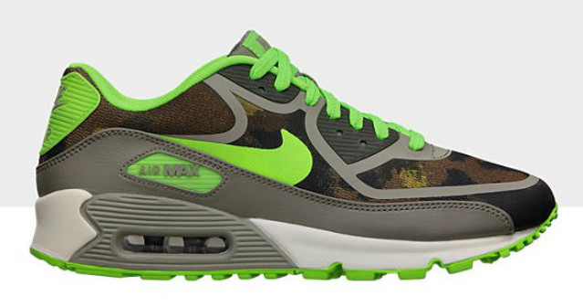 83cf1a54439 Nike WMNS Air Max 90 Premium Tape  Linen Flash Lime-Moon Grey-Cargo ...