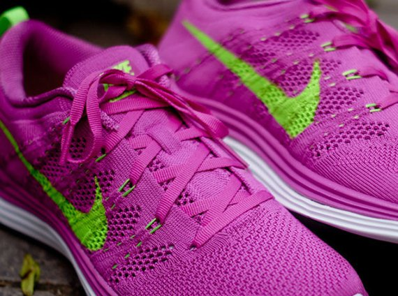 Nike WMNS Flyknit Lunar1+ Club Pink Electric Green Now Available Kith