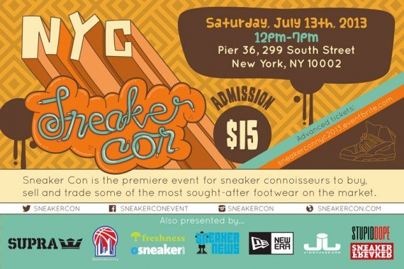 Sneaker Con NYC July 2013 Event Reminder
