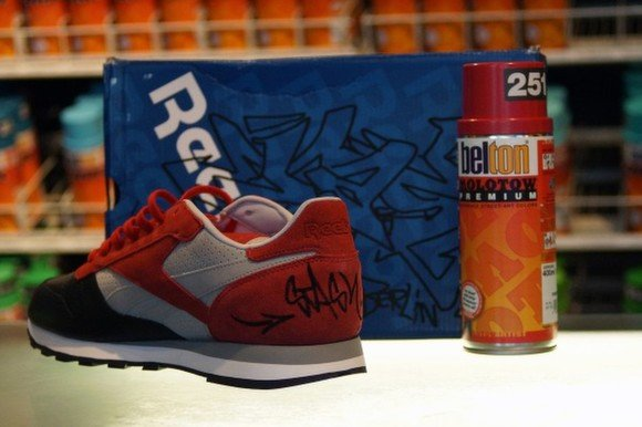 Stash Paints Live At Overkills Reebok Classic Leather City Series Release