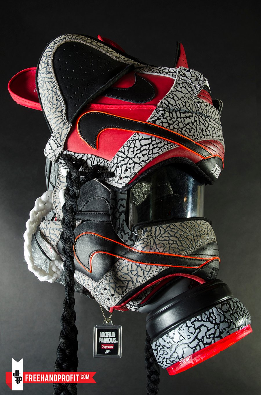 Supreme X Nike Sb Dunk Low Gasmask By Freehand Profit