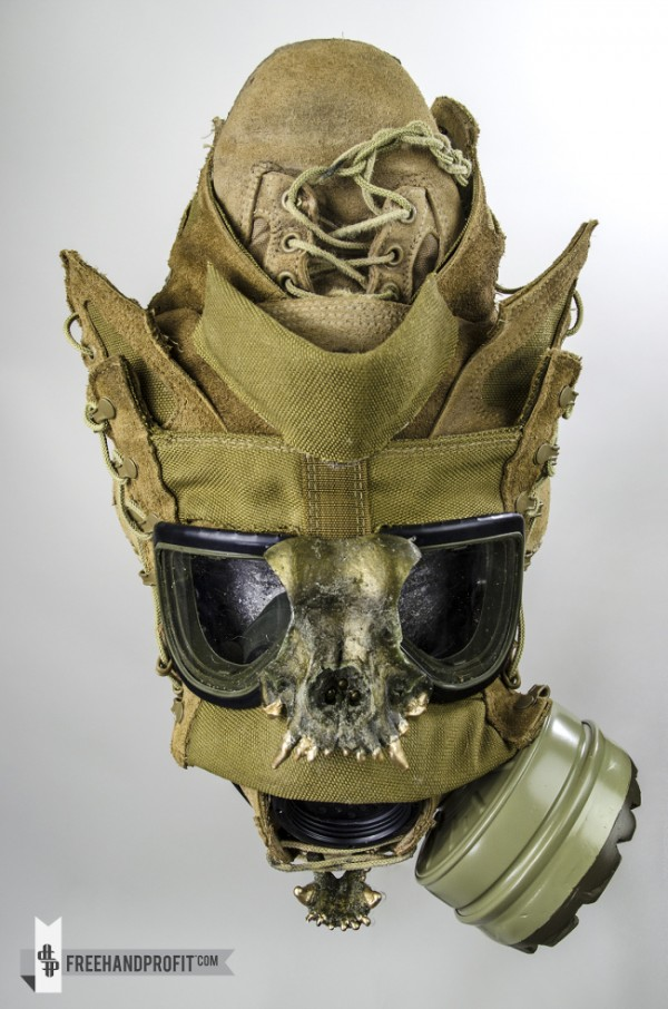 U.S.M.C. Combat Boot Gas Mask by Freehand Profit  bbba2f7d010b