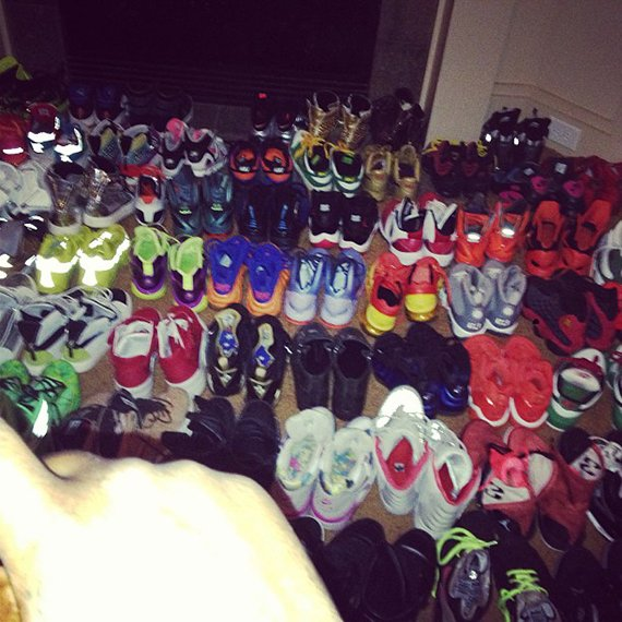 Wale Shows Off One of his Sneaker Rooms