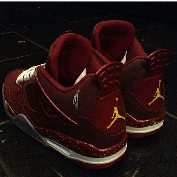 huge selection of 6400e 509c4 AJ4 Redskins Customs. Via Kickasso. TAGS  Air Jordan 4 ...