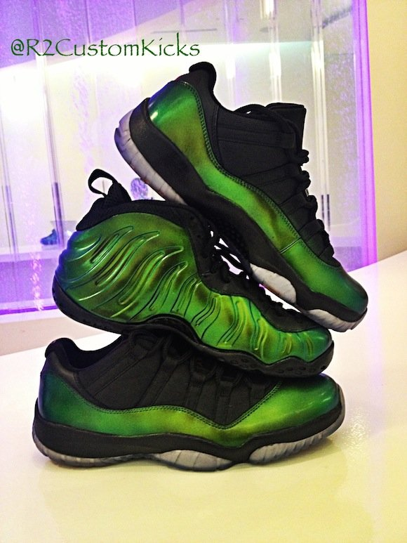 Foamposite Jordan 11 Emerald by R2CustomKicks
