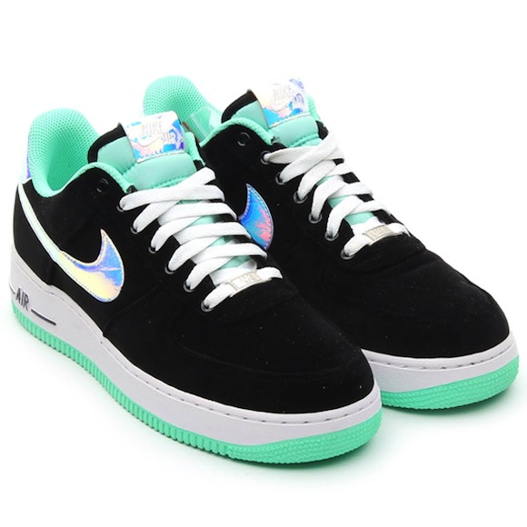 Nike Air Force 1 Low Black Green Glow