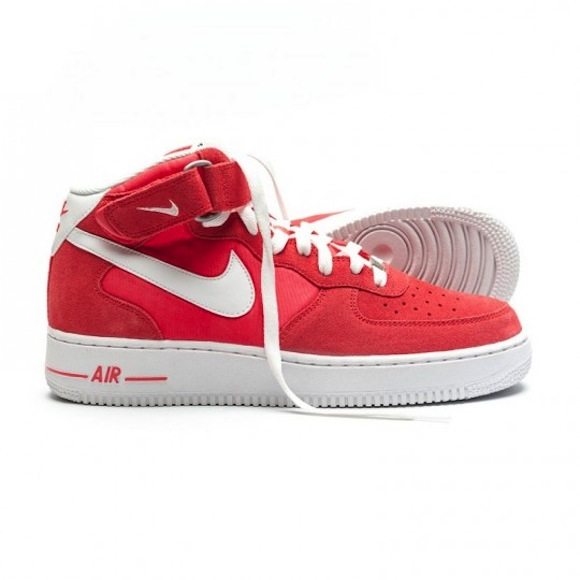 Nike Air Force 1 Rojo Mediados Fusión jRJJfcmZzH