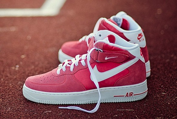 Nike Air Force 1 Mid Fusion Red Now Available