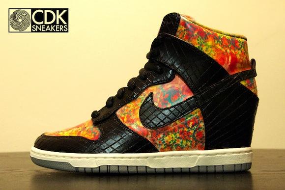 Nike Dunk Sky Hi Mamba in the Garden by CDKsneakers