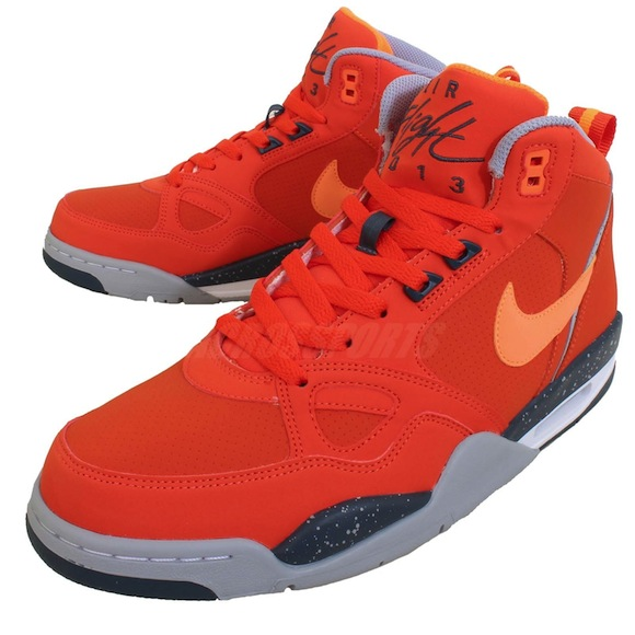 Nike Flight 13 Mid Orange Grey New Release