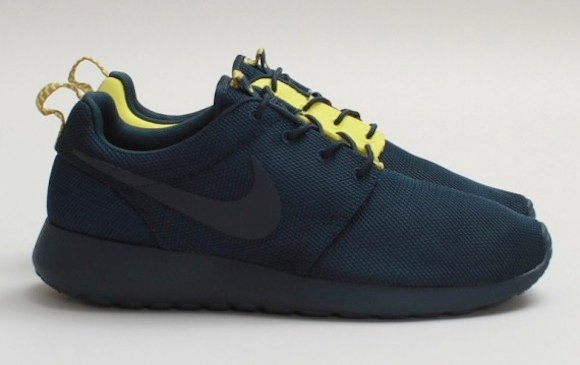 Nike Roshe Run Split Armory Navy Yellow Available Now