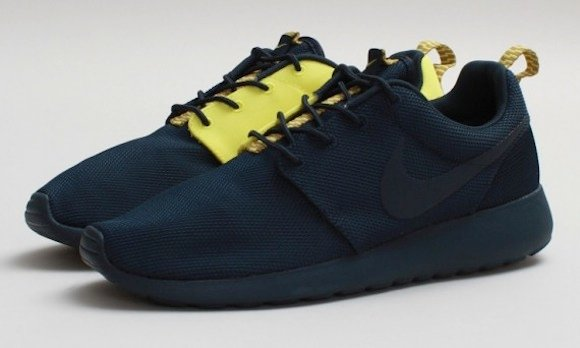 90063f1a0e69e ... Nike Roshe Run Split Armory Navy Yellow Available Now ...