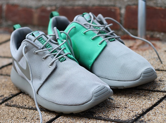 Nike Roshe Run Split Green Grey Now Available