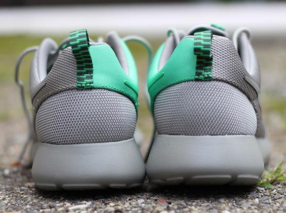 Nike Roshe Run Split Green Grey Now Available