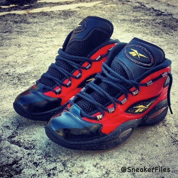 Reebok Question Gold Rush Custom By KicksGalore