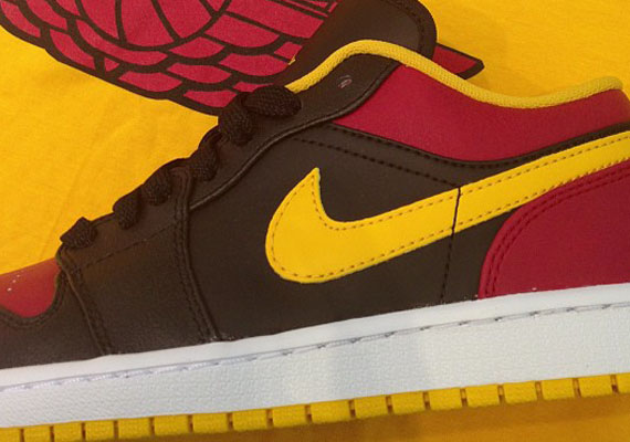 Air Jordan 1 Low Black Red Yellow