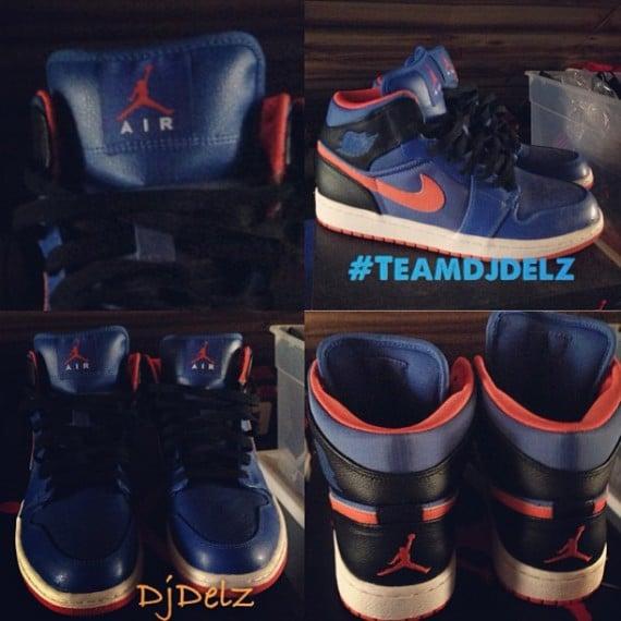 """b36d129c2c3 Air Jordan 1 Mid """"Knicks"""" Sample"""