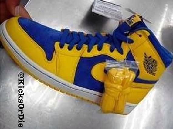 Air Jordan 1 Retro High OG Yellow Blue First Look
