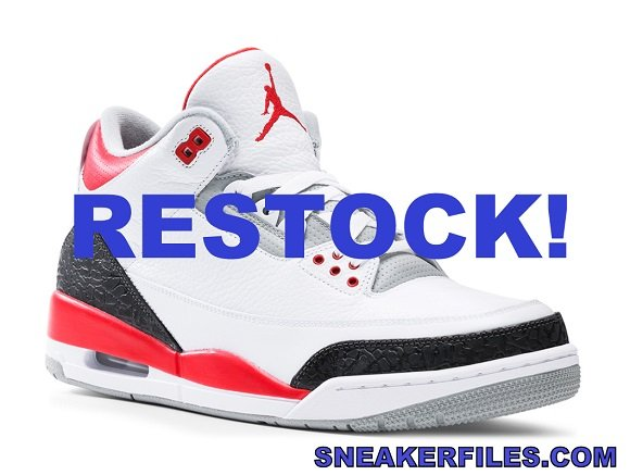 Air Jordan 3 Fire Red Restock On Finish Line