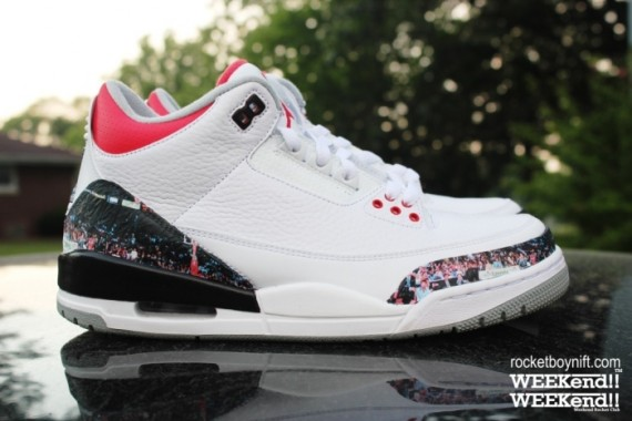 Air Jordan III Dunk Contest Customs by Rocket Boy Nift