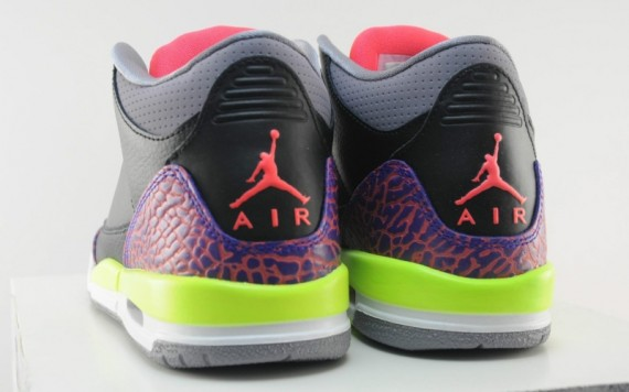 Air Jordan III GS Black Atomic Red Volt Another Look