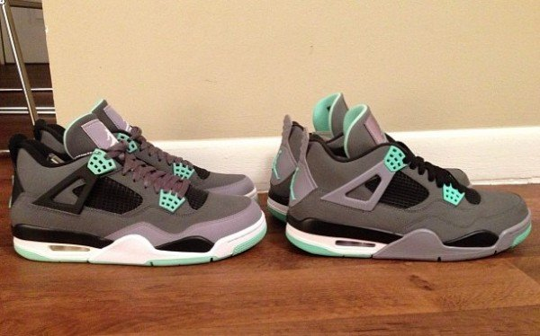 air-jordan-iv-4-green-glow-retail-version-vs-sample-version