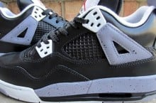 "Air Jordan IV GS ""Black Cement"" Customs by FETTi D'BIASI"