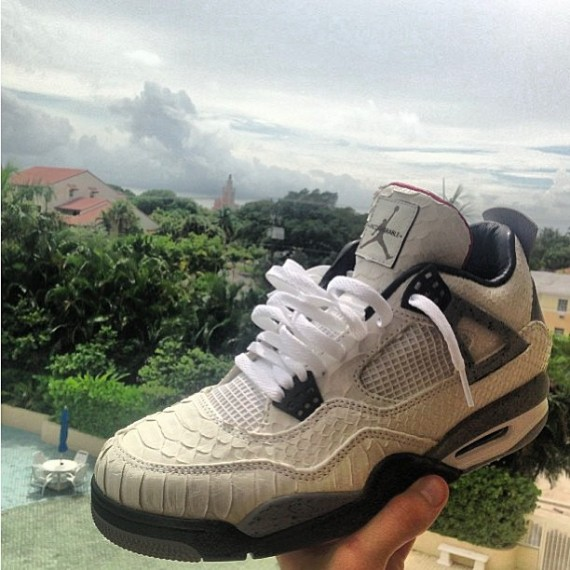 Air Jordan IV White Snake by JBF Customs