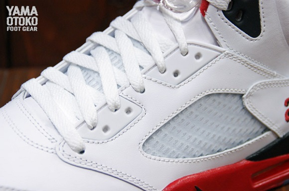Air Jordan V 5 Retro Fire Red Detailed Look