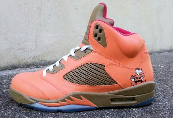 Air Jordan V Cleveland Browns Custom by Ecentrik Artistry