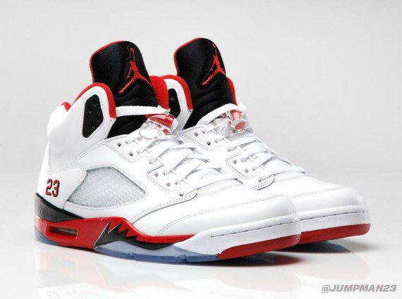 Air Jordan V Fire Red Official Image