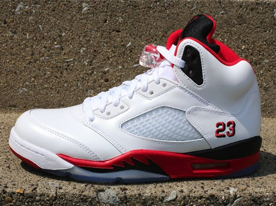 "huge selection of 3beff 9f252 Air Jordan V ""Fire Red"" – Release Reminder 