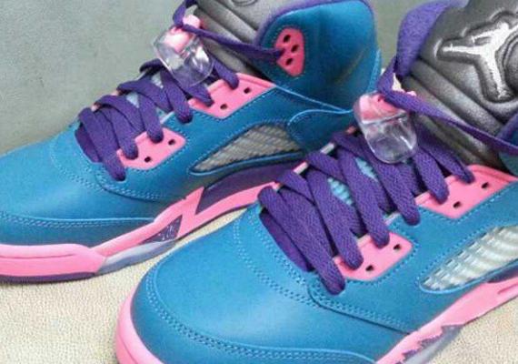 Air Jordan V GS Blue Pink Purple