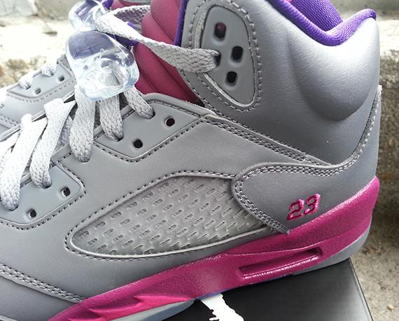 air jordan pink and gray