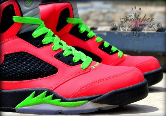 Air Jordan V Vanilla Ice Custom by Freaker Sneaks
