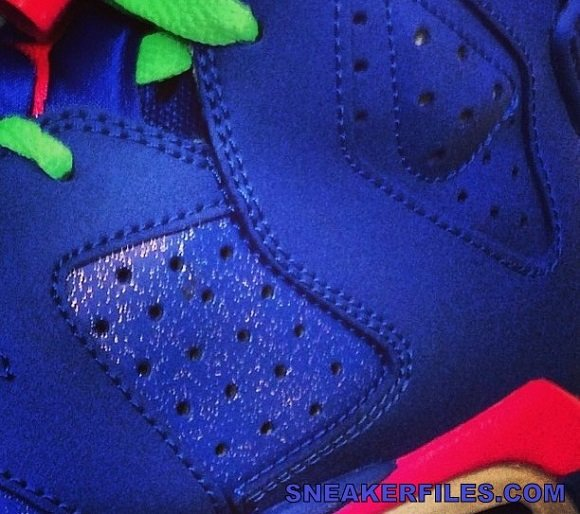 super popular 77e38 9fdc3 Air Jordan VI GS Blue Neon GreenNeon Pink 2014 Sample Teaser