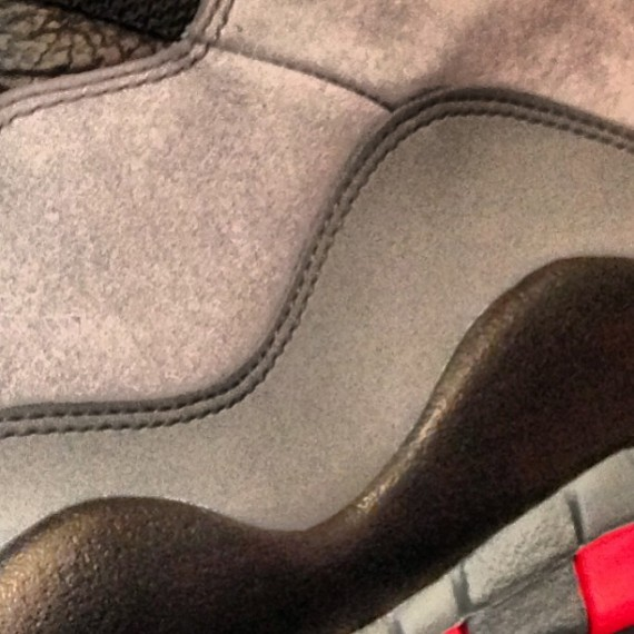 Air Jordan X Grey Black Red Teaser