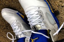 Celebrity Sneaker Watch: Trinidad James Brings Out Air Jordan V (5) 'Laney'