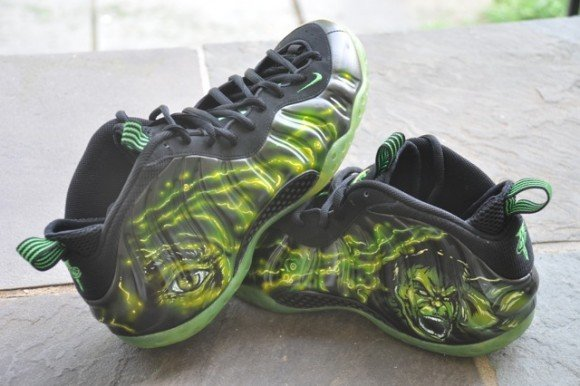 Nike Air Foamposite One Gamma Radiation Hulk Customs by DEZ Customz